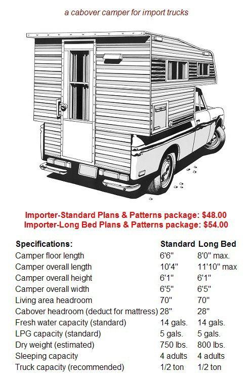 Build Your Own Camper Or Trailer Glen L Rv Plans Pickup Camper
