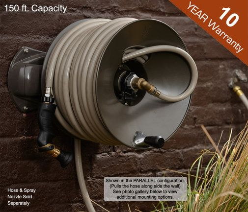 Wall Mount Garden Hose Reel   150 Ft   Rapid Reel. If I Could Have