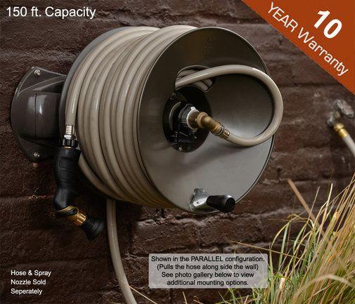 Wall Mount Garden Hose Reel   150 Ft   Rapid Reel. If I Could Have