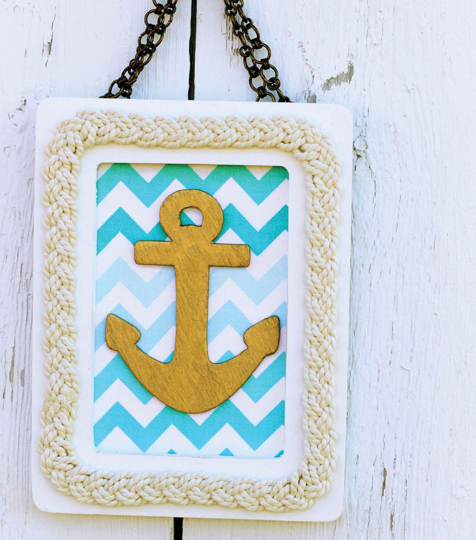 Cute Nautical Frame Idea from Joann. | Nautical Crafts | Pinterest