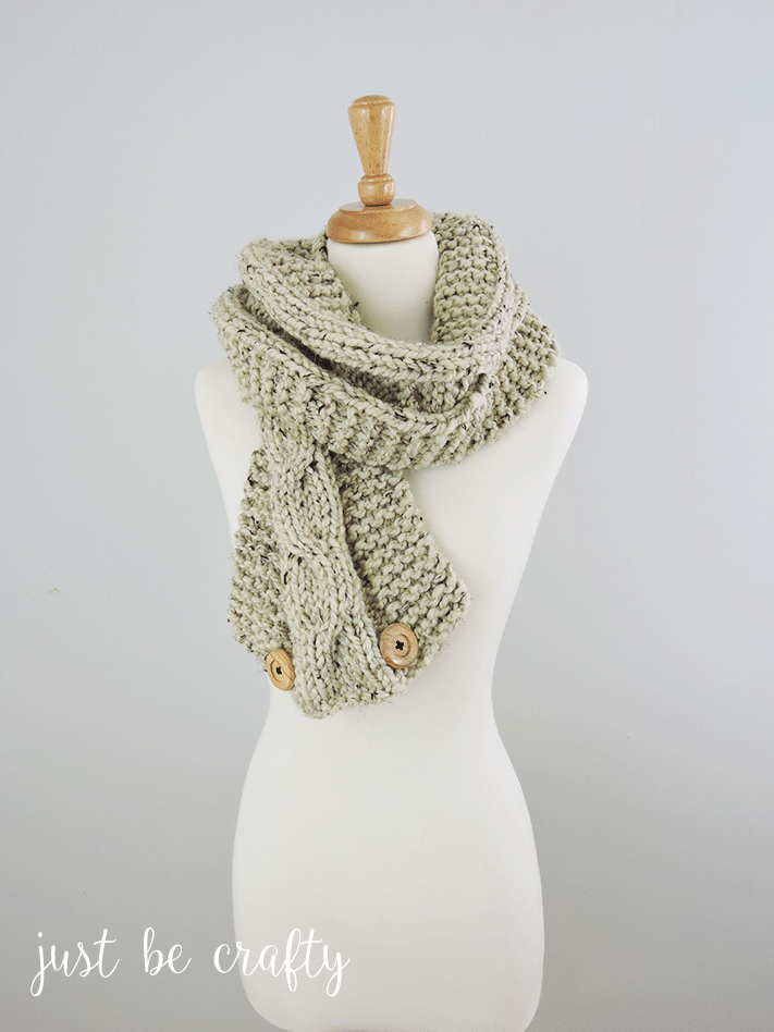 Chunky Relaxed Cable Scarf Pattern by | Tejer bufandas y Guantes