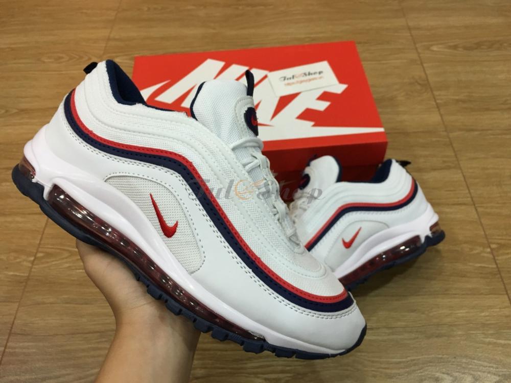 Giày Nike Air Max 97 White Red Trắng Đỏ Nam Nữ Replica
