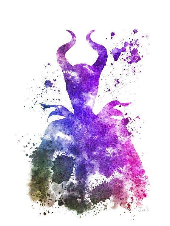 Maleficent Sleeping Beauty ART PRINT illustration by SubjectArt