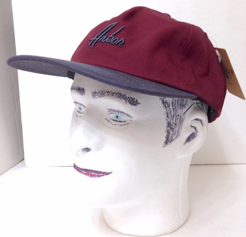 d73cf47e1ef new Mens ARBOR SKATEBOARD CO. DAD HAT Maroon Dark-Gray Low-Profile  UNSTRUCTURED  Arbor  BaseballCap
