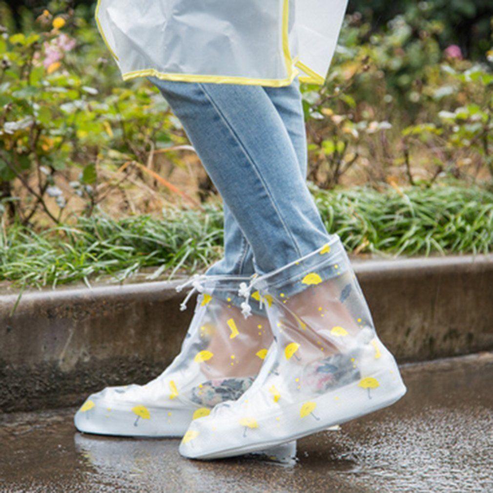 Girl Women Waterproof Boot Rain Shoes Cover Non-slip PVC Shoe Covers Overshoes S