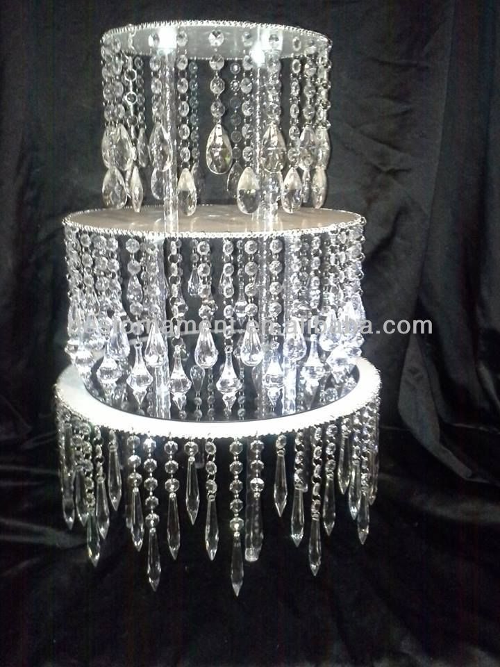 Acrylic Crystal Chandelier Wedding Cake Stand