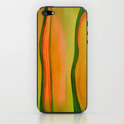 Green, Red & Yellow iPhone & iPod Skin by Alina Sevchenko - $15.00