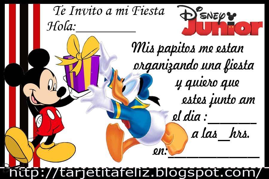Invitaciones De Cumpleaños De Mickey Para Regalar 9 En Hd