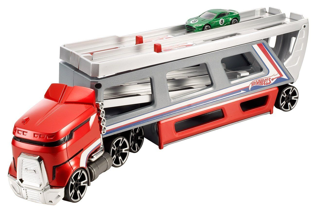 Amazon com: Hot Wheels Haul And Race Rig: Toys & Games