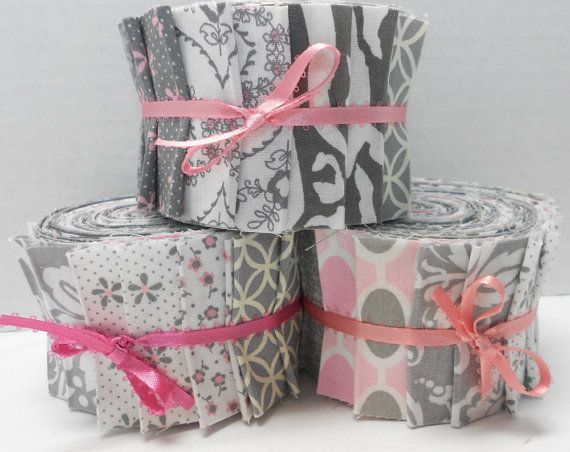 Jelly Roll Quilt Fabric | Pink and Gray Quilt Fabric Jelly Roll ... : jelly roll fabrics for quilting - Adamdwight.com
