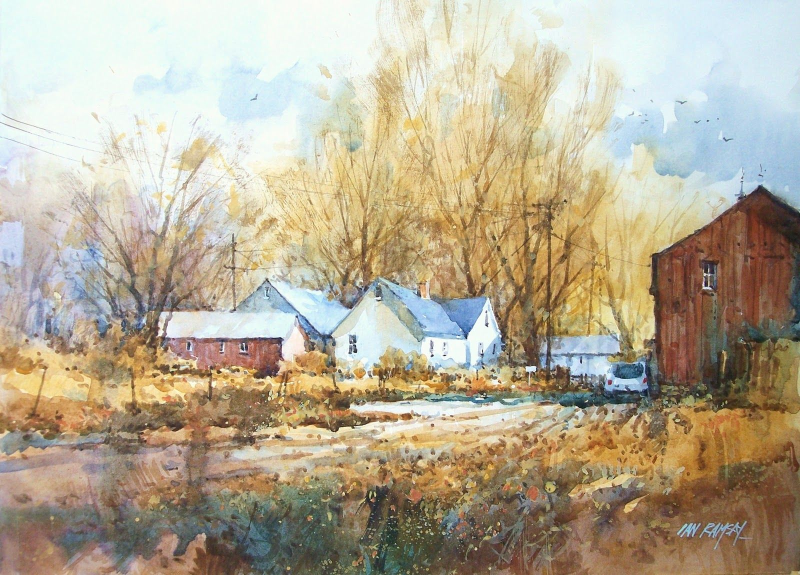 Rural Watercolors Plein Air Watercolor Watercolor Landscape