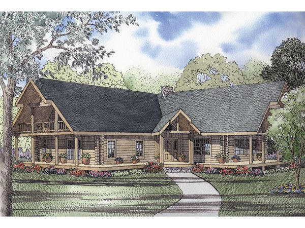 Rustic house plans with wrap around porches rustic full for Full wrap around porch log homes