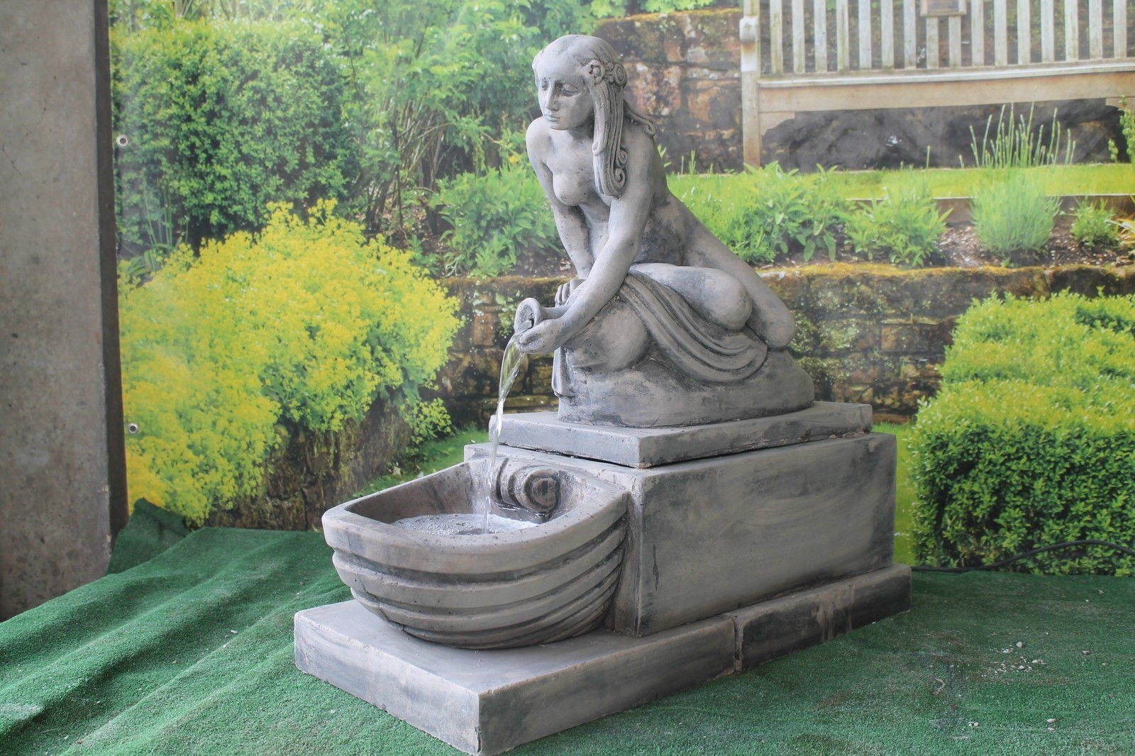 Attirant Ornate Stone Pouring Water Lady Water Feature Ornamnet Fountain: Amazon.co. Uk: Garden U0026 Outdoors £344