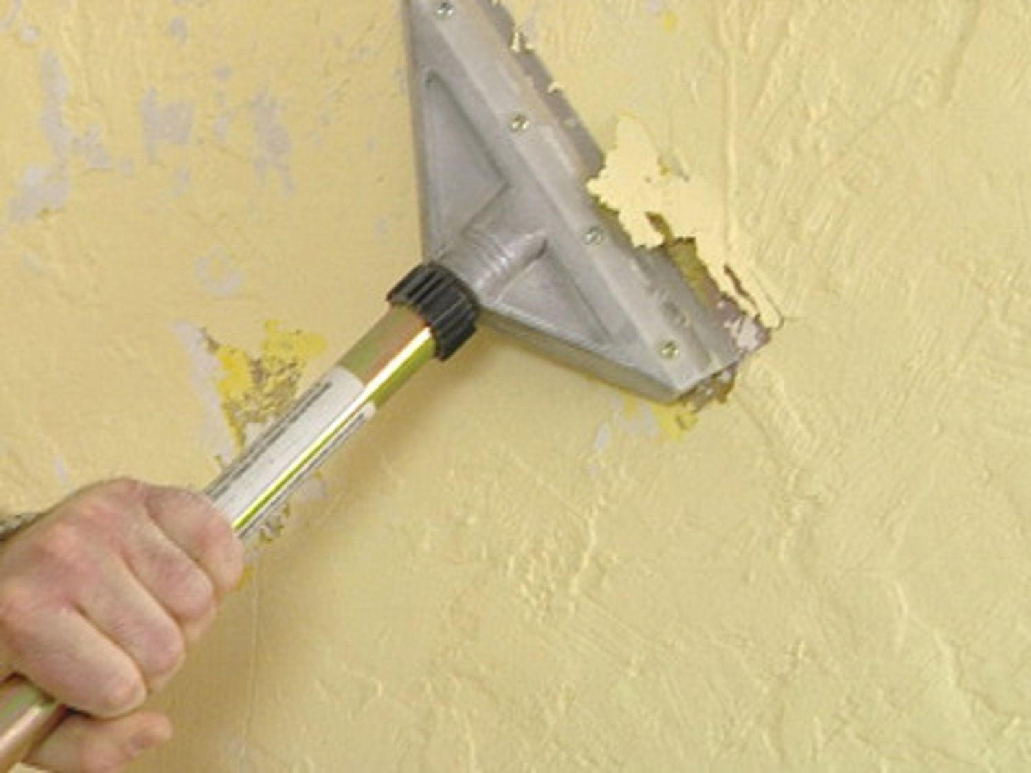 How to remove texture from a wall cleaning painted walls