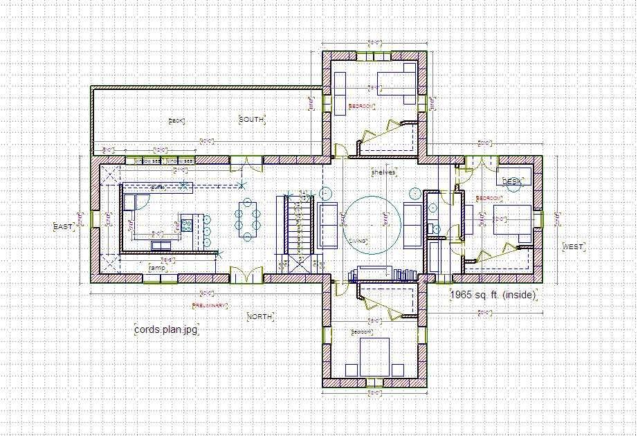 floor plan - Cross Shaped House Plans
