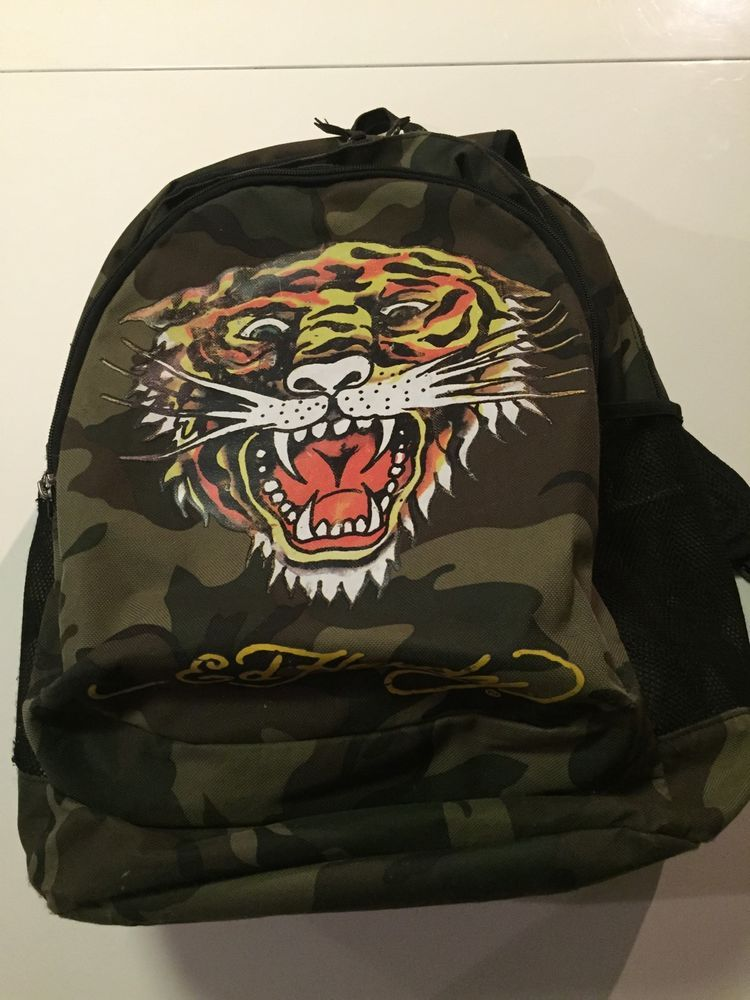 140edfbb57 Ed Hardy Kids Backpack Camouflage Specious With Zipper  EdHardy  Backpack