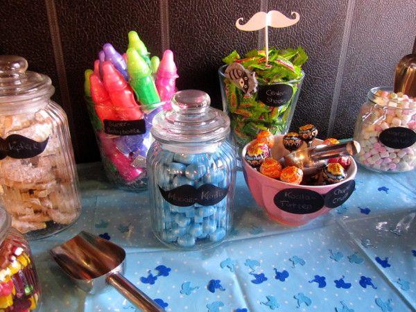 tipps and ideen f r eine babyparty candy bar baby shower dekoideen f r die babyshower. Black Bedroom Furniture Sets. Home Design Ideas
