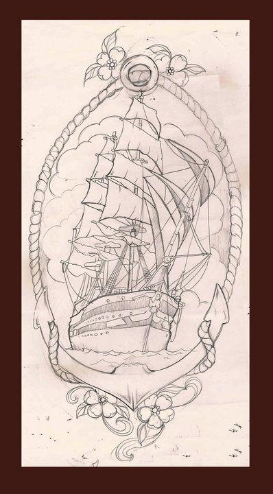 Photo of Croquis de tatouage de navire – Croquis de tatouage de navire – #ship #sketch #tattoo #tattooa …
