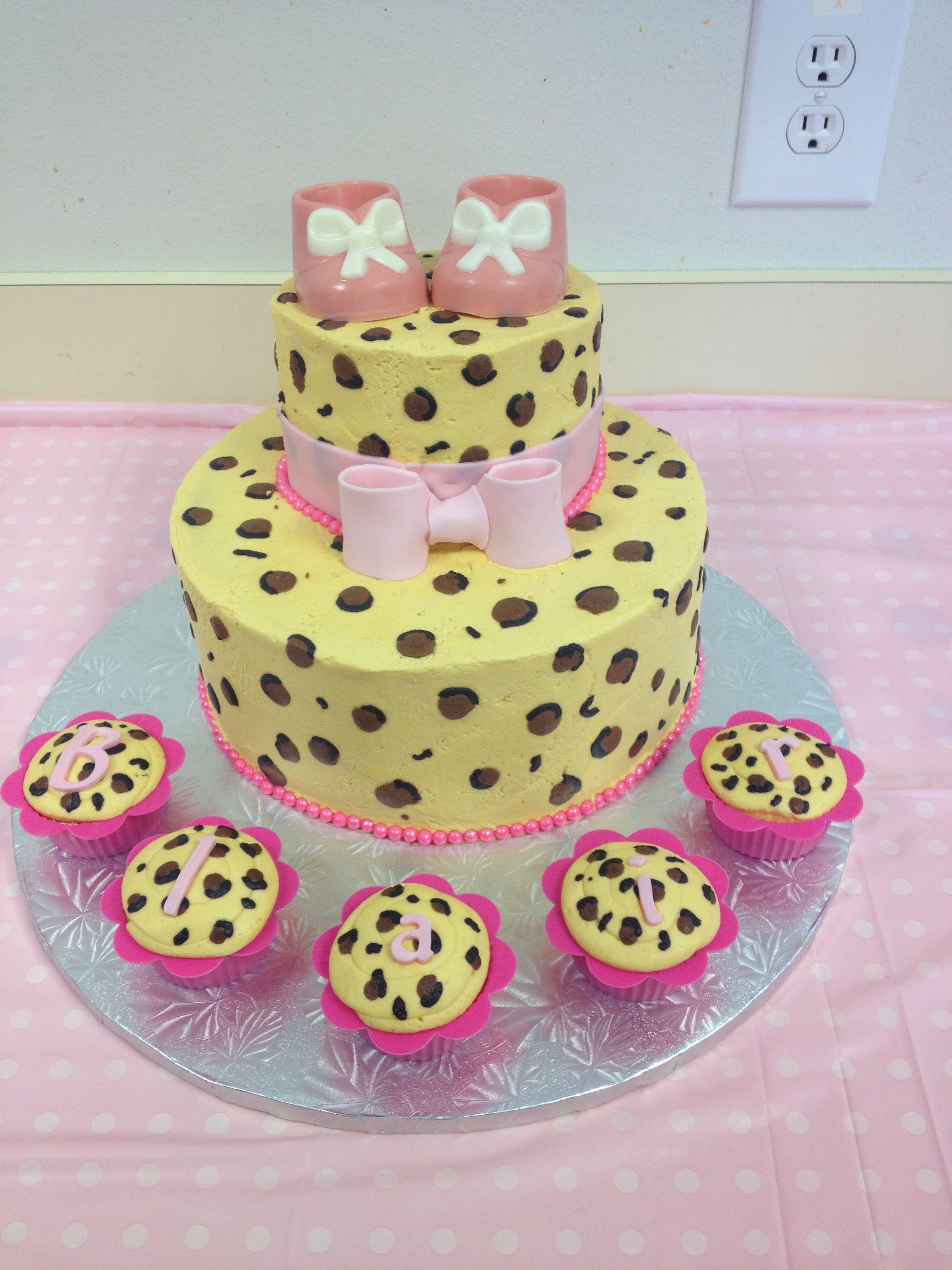 Leopard Print babyshower Cake