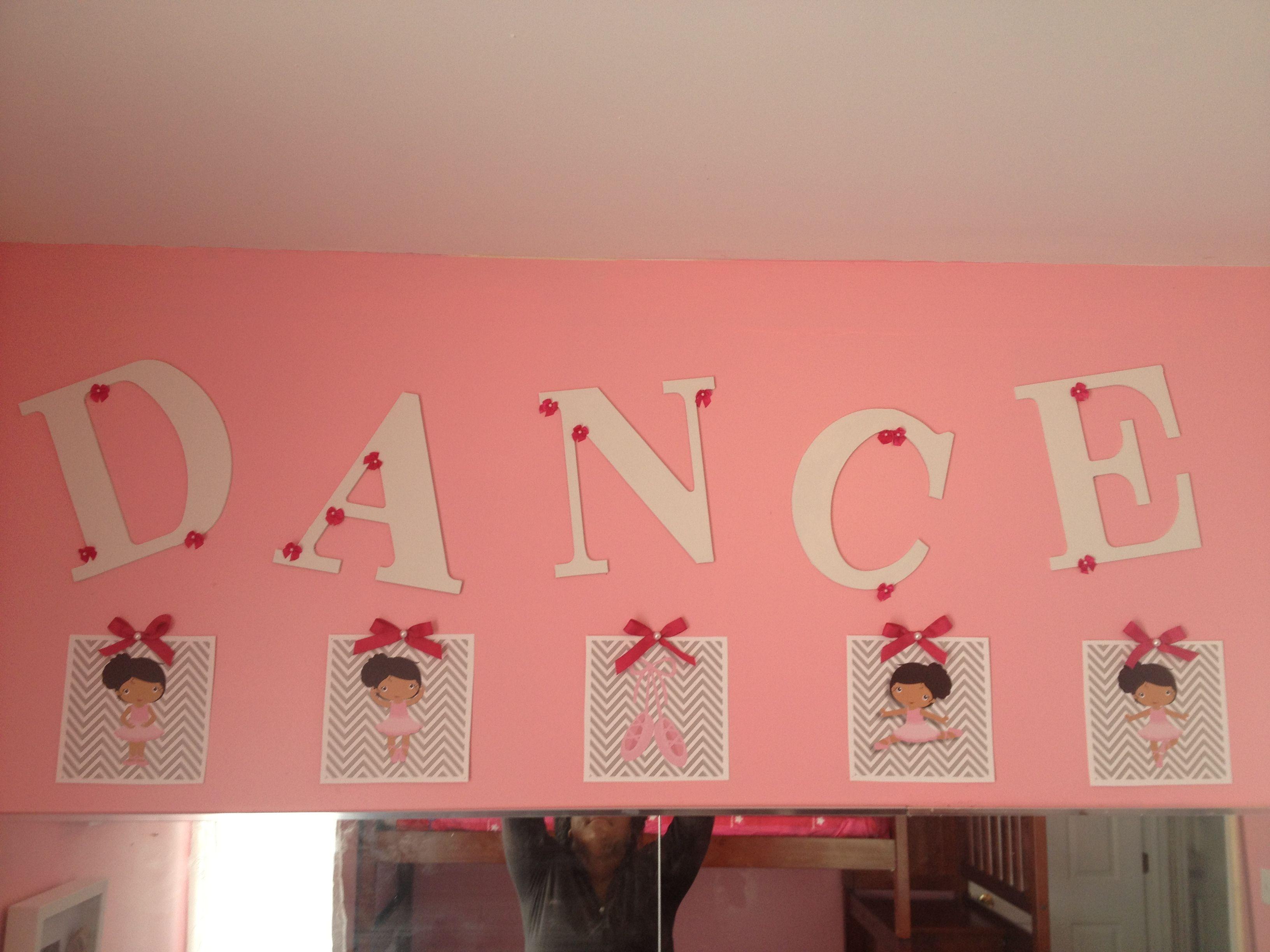 Ballerina bedroom decor. African American ballerina.