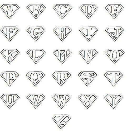 Printable Superman Logo Letter Superman Logo, Superman