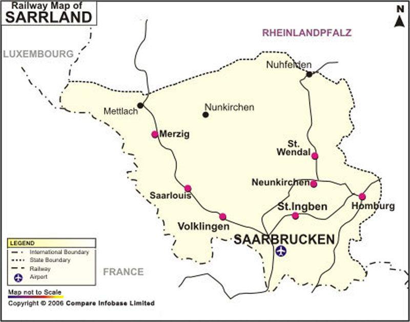 Saarland Railway Map Germany Maps Pinterest