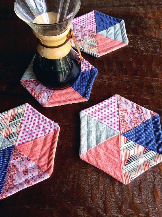 Fabric Coasters Pattern Mug Rug Tutorial