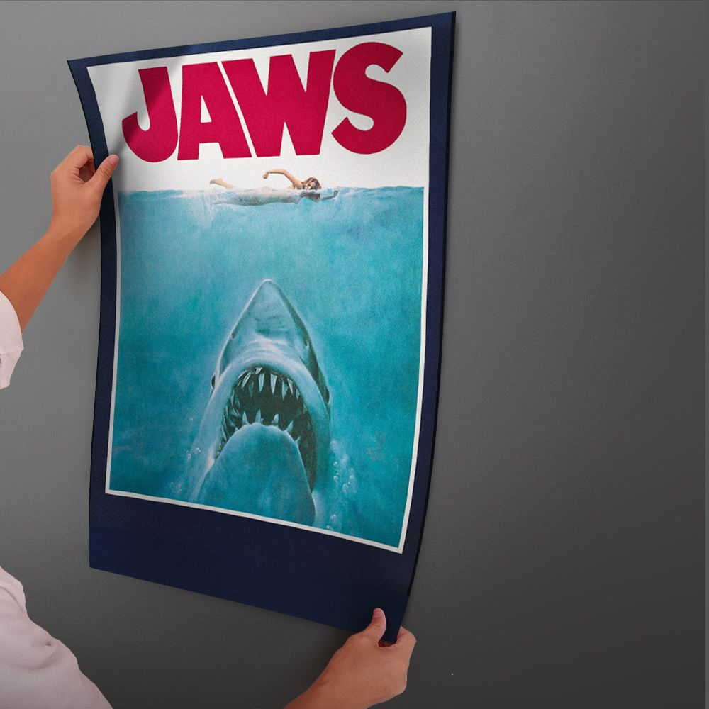 Universe Of Goods Buy Shark Jaws Movie Poster Glue Paper Painting With Film Old Movie Art Poster And Print Wall Stick Movie Poster Art Wall Prints Movie Art