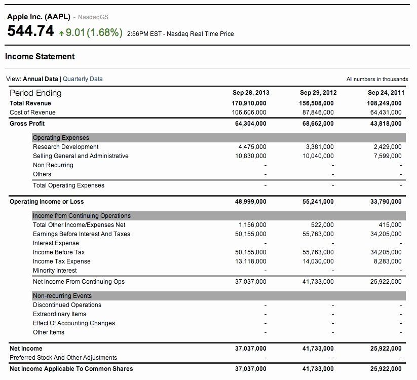 Income And Expense Statement Template Inspirational 7 Profit And