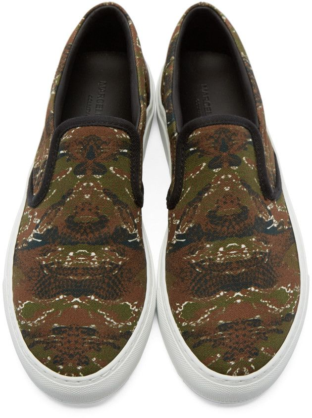 MARCELO BURLON COUNTY OF MILAN Camo Pilar Slip-On Sneakers JvHkeUx1TX