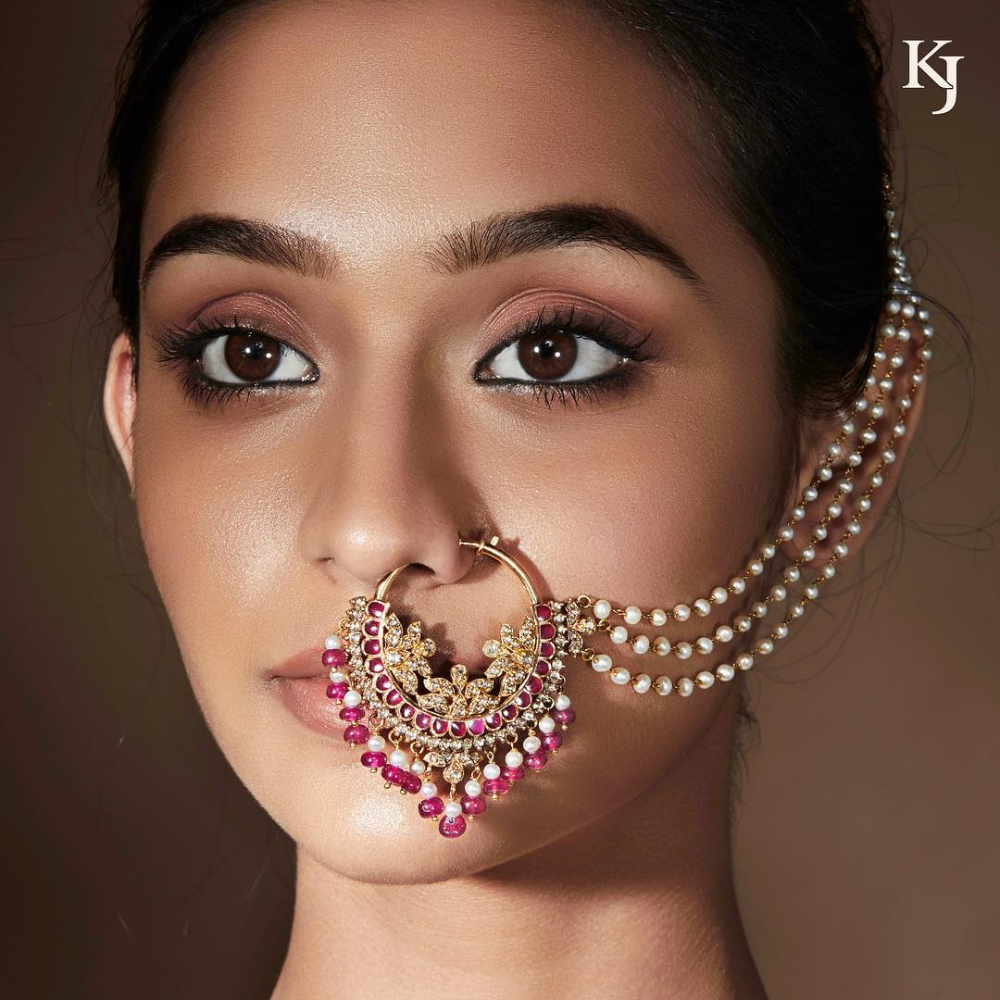 Bridal Nose Ring Designs That You Need To Experiment With Bridaljewellery Tradionaljewellery Noseringdesigns N Bridal Nose Ring Nose Ring Nose Ring Designs