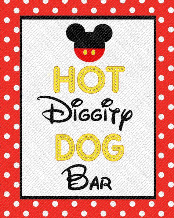 Free Hot Diggity Dog Bar Sign