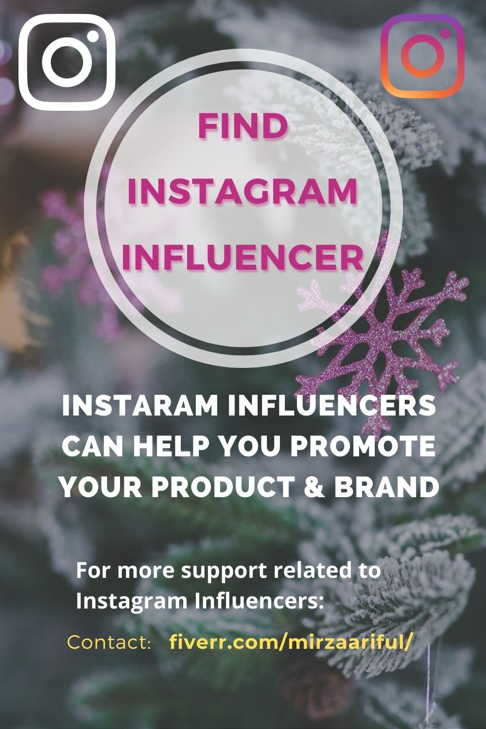 Mirzaariful I Will Find Top Instagram Influencer Of Any Niche For Influencer Marketing For 10 On Fiverr Com In 2020 Instagram Influencer Top Instagram Influencers Influencer Marketing