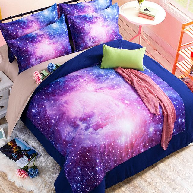 71e57ac47e Online Shop 3D Galaxy Bedding Sets 2/3/4pcs Universe Outer Space Duvet  cover Bed Sheet / Fitted Bed Sheet pillowcase Twin queen king | Aliexpress  Mobile