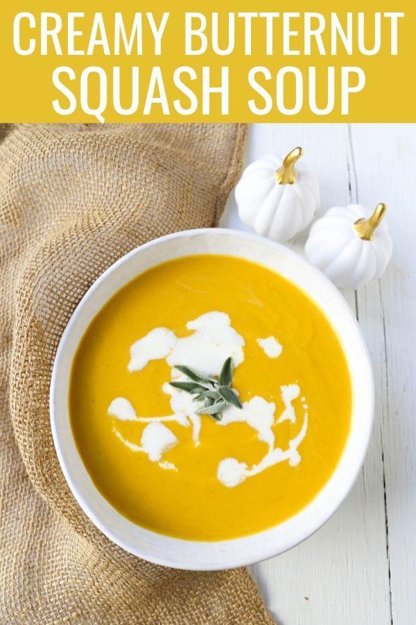 Creamy Butternut Squash Soup – Modern Honey