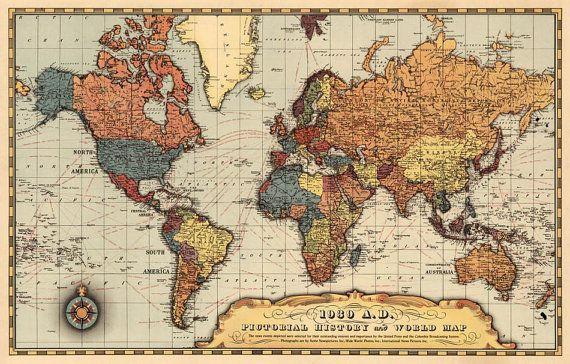Historic map of the world - Map of the world , 1939 , before ...