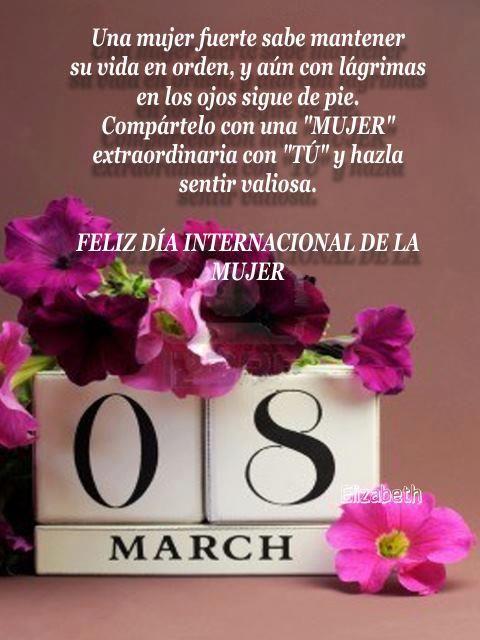 Feliz día internacional de la mujer.  8-de-marzo