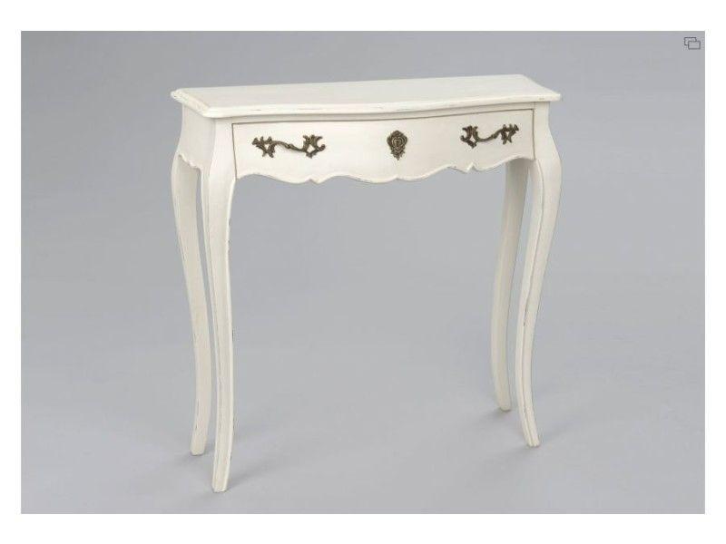 console petit mod le muriane blanc vente de hellin selection salon bien tre by jessica. Black Bedroom Furniture Sets. Home Design Ideas