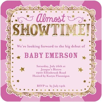 Almost showtime baby shower invitations hallmark peony pink almost showtime baby shower invitations hallmark peony pink filmwisefo Choice Image