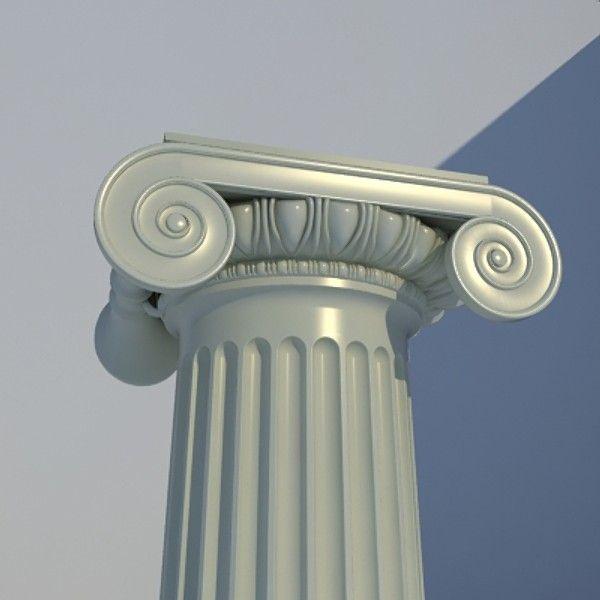 Classical Ionic Order Column 3D Model 3D Model