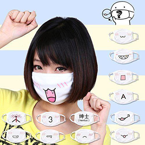 5pcs Kawaii Anti Dust Mask Kpop Cotton Mouth Mask Cute Anime
