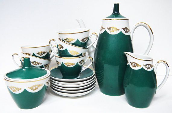 Vintage Coffee Set Leicht Germany 1960s by Yonks on Etsy, $88.00