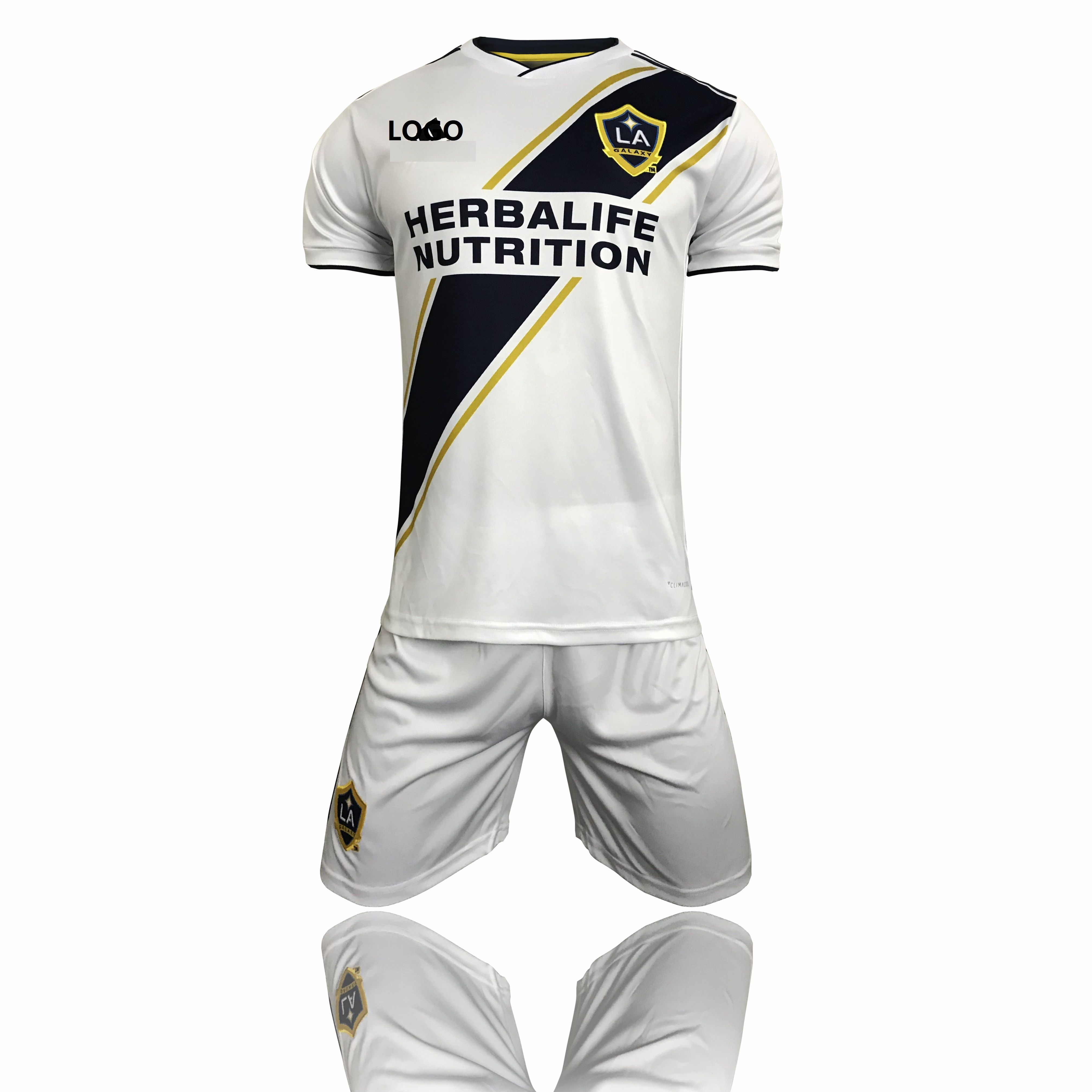 eb9a183b6 2018 Adult LA GALAXY Home Jersey Kits Soccer Uniform