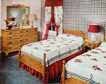 heywood wakefield old colony furniture ad bedroom set 1949 home
