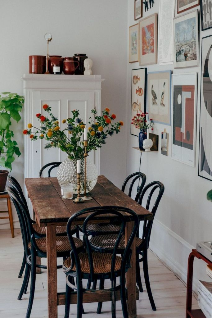30 Stunning Dining Room Ideas That Ll Make Every Weeknight Dinner Special Cornelius Adeniyi In 2020 Dining Room Small Farmhouse Dining Table Kitchen Table Decor