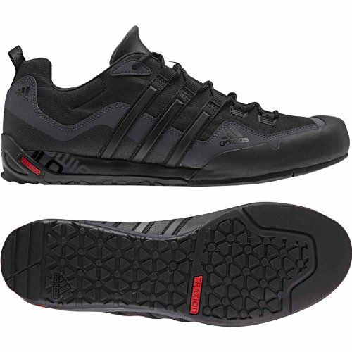 Outlet Store Mens Outdoor Shoes - Adidas Terrex Swift Solo Black/Black/Carbon