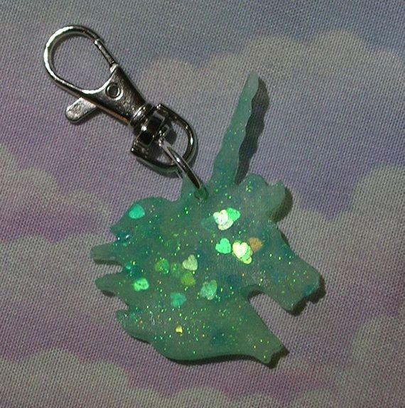 ♥ sweet lolita, fairy kei, decora, magical girl, decora, pastel goth, lolita unicorn, unicorn keychain, unicorn purse charm ♥  https://www.etsy.com/shop/starlightsparkles