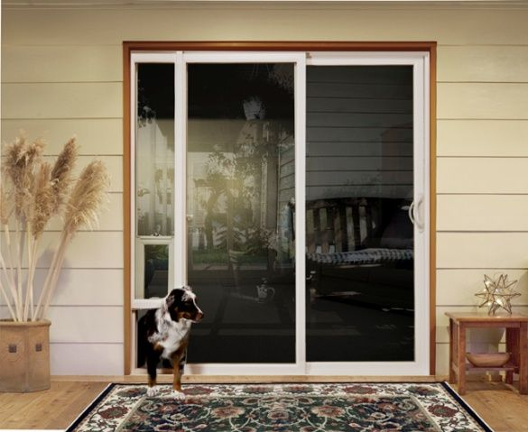 Pet door ideas (product: #JELD-WEN Premium Vinyl Sliding Patio door with  integrated pet door) - Pet Door Ideas (product: #JELD-WEN Premium Vinyl Sliding Patio Door