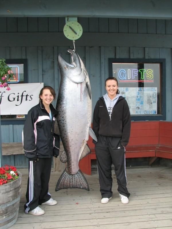 Me and my sister in Homer, Alaska