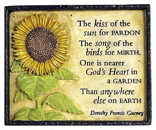 Garden Collection 13060020 The Kiss Of The Sun For Pardon Plaque